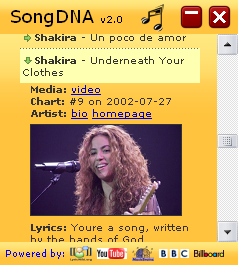 SongDNA details screenshot Widget